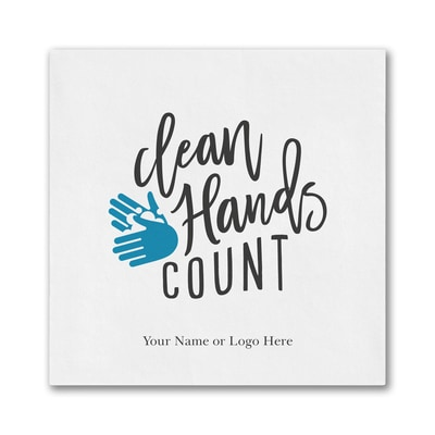Clean Hands Count - Ooh la Color Luncheon Napkin