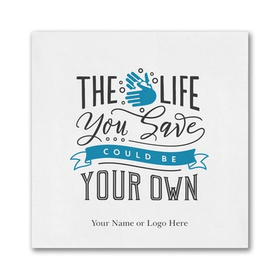The Life You Save - Ooh la Color Luncheon Napkin