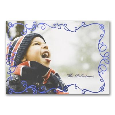 Holiday Swirls - Photo Holiday Card