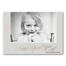 New Year Wishes - Photo Holiday Card