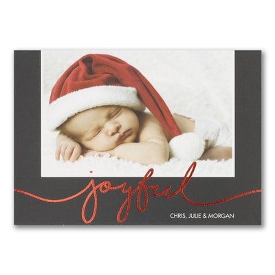 Joyful - Photo Holiday Card