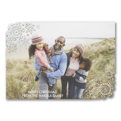 Snowflake Wishes - Photo Holiday Card