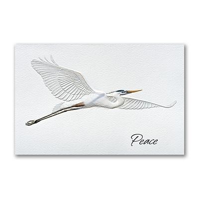 blue heron holiday card pumpernickel press cards carlson craft