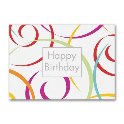 Swirls of Fun Birthday Postcard