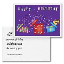 Crazy Confetti Birthday -  Postcard