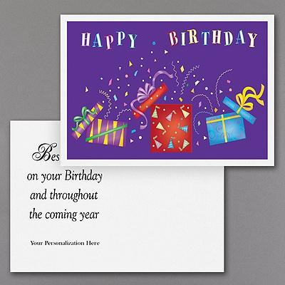 Crazy Confetti Birthday -  Postcard