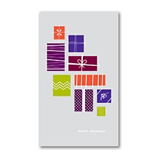 Cascading Gifts Birthday Card