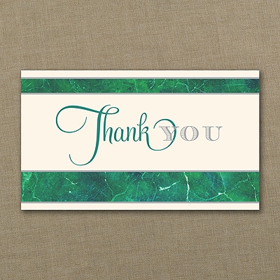 Marbled Thank You Card