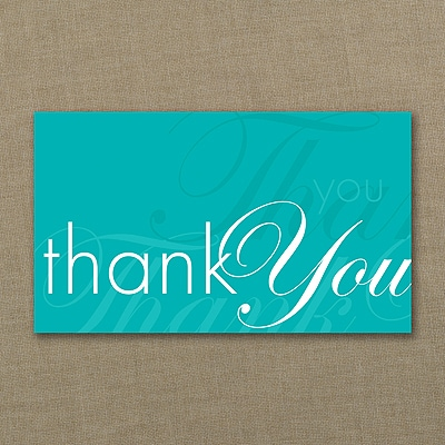Sentiments Echoed Thank You Card