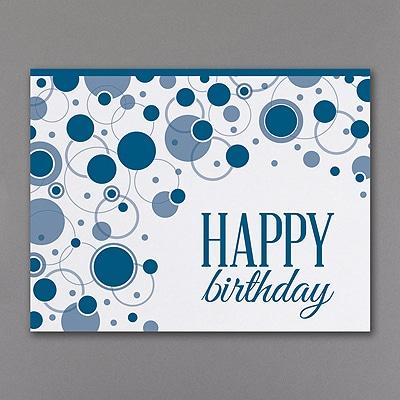 Geometric Birthday - Blue