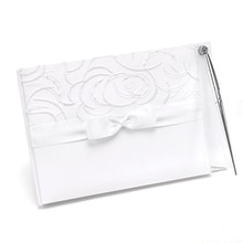 Satin and Swirls Guest Book and Pen Set