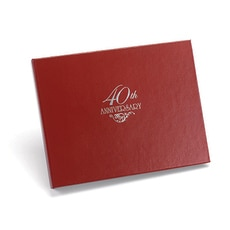 40th Anniversary Guest Book -