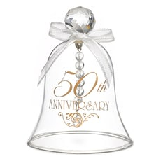 50th Anniversary Glass Bell -