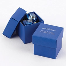 Two-Piece Favor Boxes - Royal Blue - Personalized