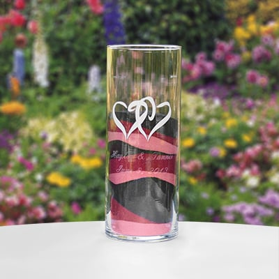 Linked Hearts Large Cylinder - Personalized