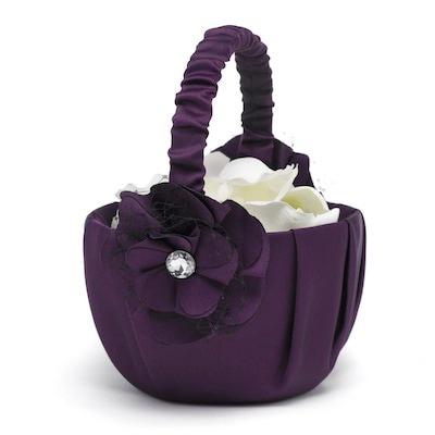 Floral Fantasy Basket - Eggplant