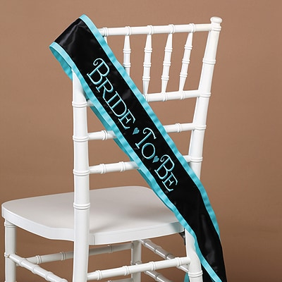 Bride-to-Be Black Sash
