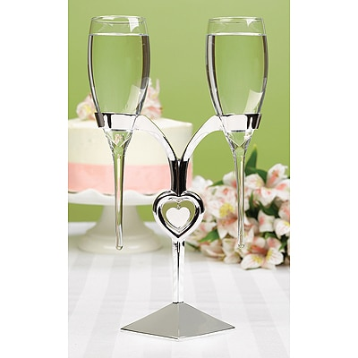 Raindrop Flutes with Heart Stand