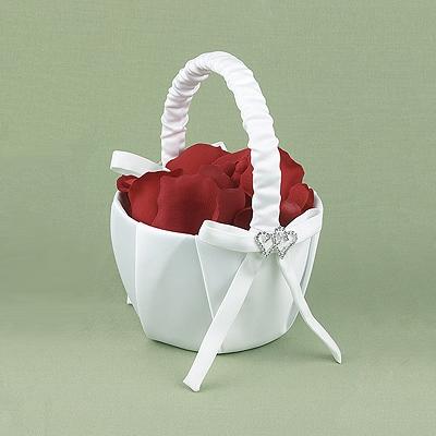 With all my heart flower basket white flower girl baskets with all my heart flower basket white mightylinksfo