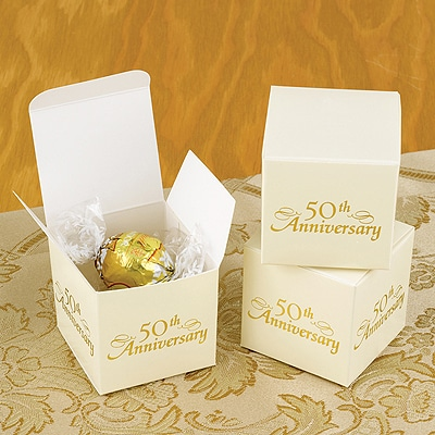 50th Anniversary Favor Boxes - Blank