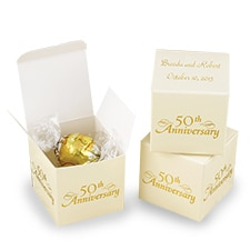 50th Anniversary Favor Boxes - Personalized