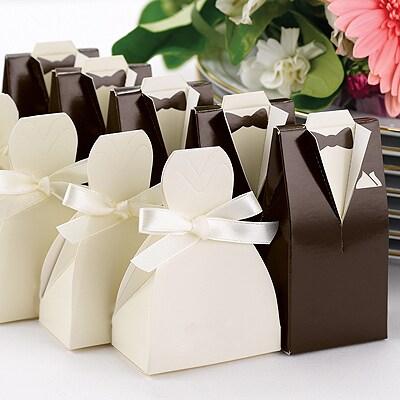 Brown Tuxedo Favor Boxes