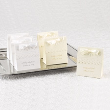 White Scalloped Favor Boxes - Personalized