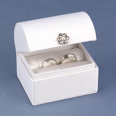 White Satin Ring Box