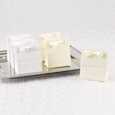 Ivory Scalloped Favor Boxes - Blank