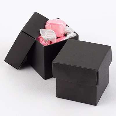 Two-Piece Favor Boxes - Black - Blank