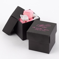 Two-Piece Favor Boxes - Black - Personalized