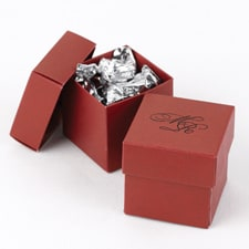 Two-Piece Favor Boxes - Claret - Personalized