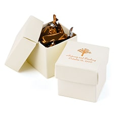 Two-Piece Favor Boxes - Ivory Shimmer - Personalized