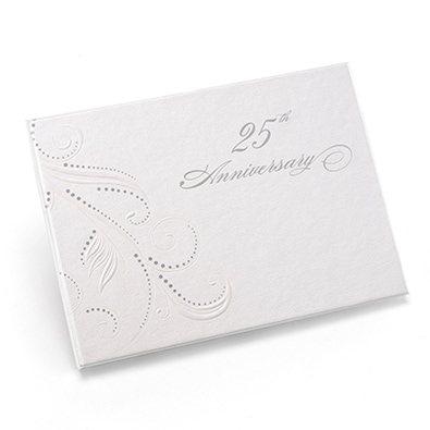 Swirl Dots 25th Guest Book
