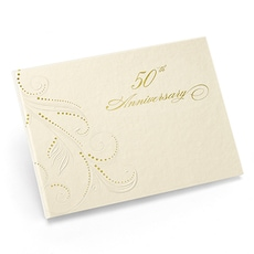 Swirl Dots 50th Guest Book -