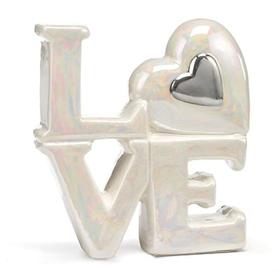 Porcelain Love Cake Top - Silver