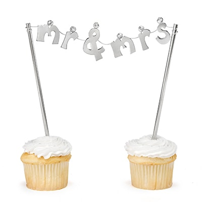 Mr. & Mrs. Banner Cake Pick