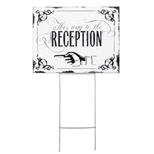 Vintage Reception Sign