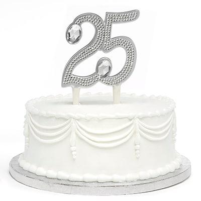 Gilded 25th Anniversary - Cake Pick