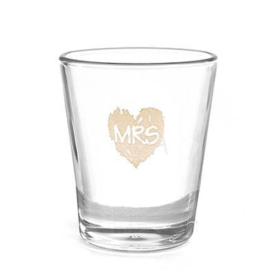 Brush of Love - Mrs - Shot Glass