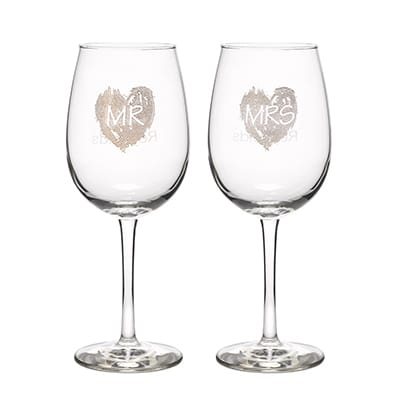 Brush of Love - Wine Glasses