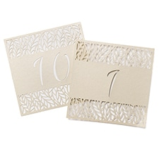 Organic Leaves - Table Number Cards 1-10