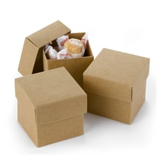 Two-Piece Favor Boxes - Kraft - Blank