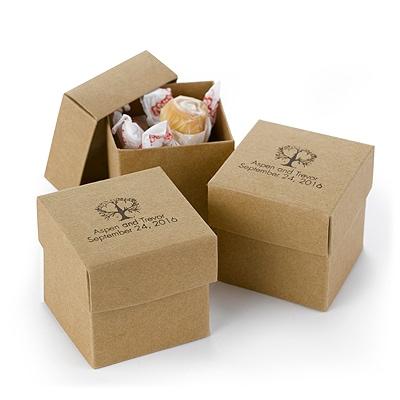 Two-Piece Favor Boxes - Kraft