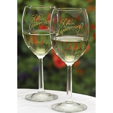 50th Anniversary Wine Glasses  -