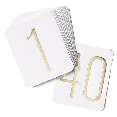 Gold Table Number Cards