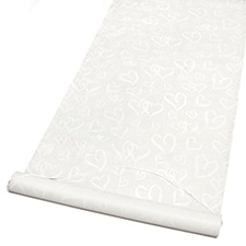 Linked Hearts Aisle Runner - Ivory