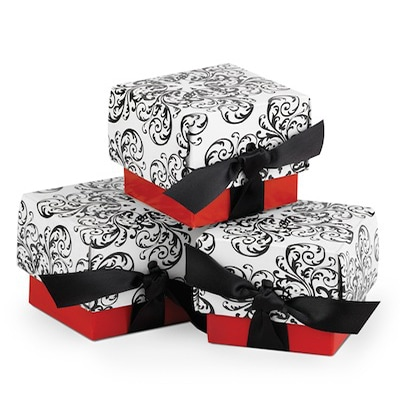 Filigree Favor Boxes - Red