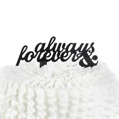 Always & Forever - Cake Pick