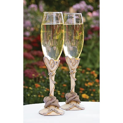 Country Flair Resin Flutes